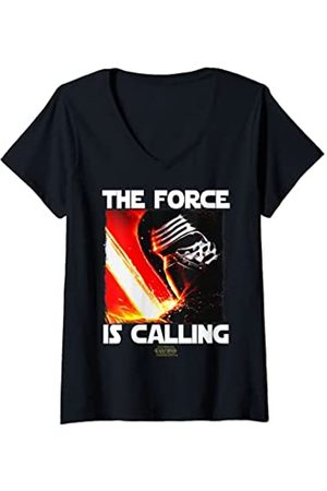 STAR WARS Mujer The Force Awakens Kylo Ren The Force Is Calling Camiseta Cuello V