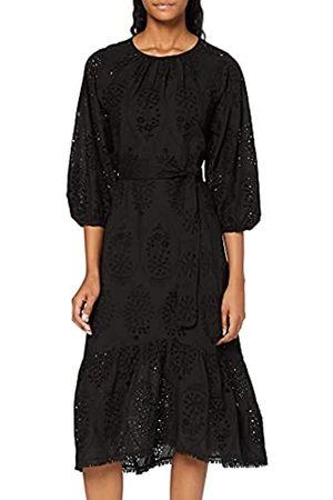 FIND Marca Amazon - Vestido Midi de Algodón Mujer (Black), 40