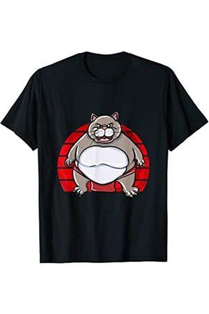 Sumo ringers cat Pajama Shirts Pijama de gato lindo sumo ringers Camiseta