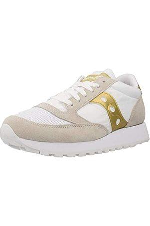 Saucony Jazz Original Vintage White/Gold, Zapatillas de Atletismo Mujer