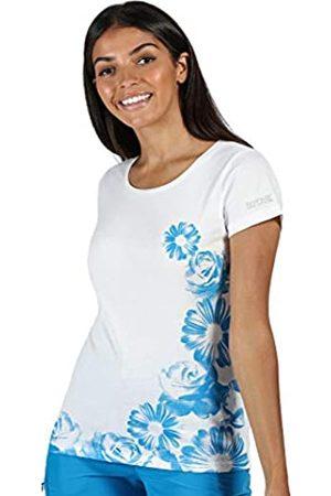 Regatta Breezed-Camiseta De Deporte De Algodón Coolweave con Estampado Gráfico T-Shirts/Polos/Vests, Mujer, White
