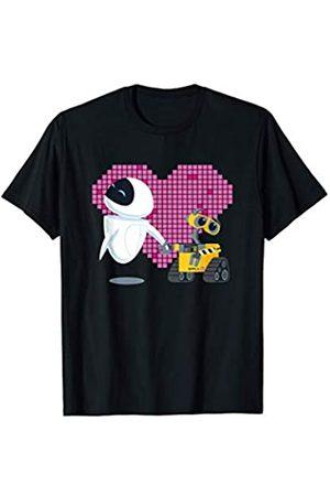Pixar Disney Wall-E and Eve Geometric Heart Camiseta