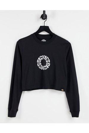 Dickies Camiseta negra de manga larga con estampado circular en la espalda de
