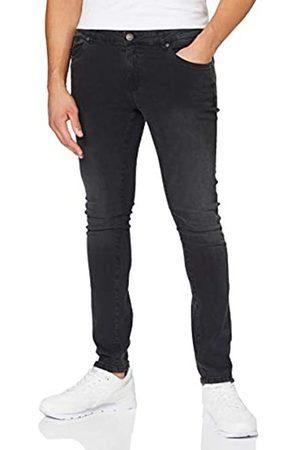 Urban classics Slim Fit Zip Jeans Pantaln 36W / 34L para Hombre