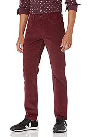 Goodthreads Marca Amazon - : pantalones pitillo de pana elásticos con 5 bolsillos para hombre, (Burgundy Bur)
