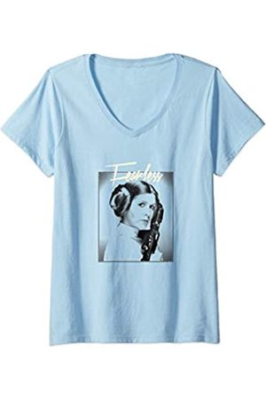 STAR WARS Mujer Princess Leia FEARLESS Profile Poster Camiseta Cuello V