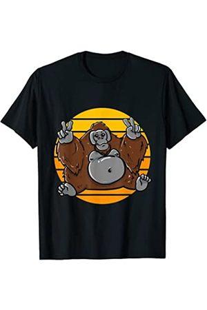 Orangutan Pajama Shirts Pijama de orangután lindo Camiseta