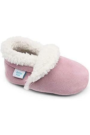 Dotty Fish Niña Pantuflas - Zapatillas de bebé de Ante. Bebés. Niños pequeños. Forrada de Borreguillo. Pantuflas.. 12-18 Meses (21 EU)