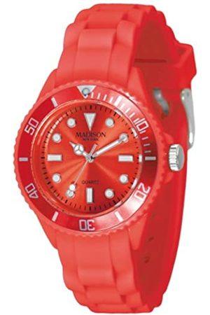 Madison New York Reloj Análogo clásico para Unisex de Cuarzo con Correa en Caucho L4167-11