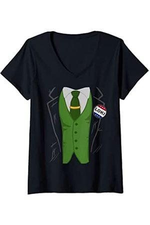 STAR WARS Mujer Marvel Loki President Loki Costume Camiseta Cuello V