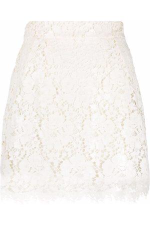 Dolce & Gabbana Mujer De tubo - Falda corta de encaje