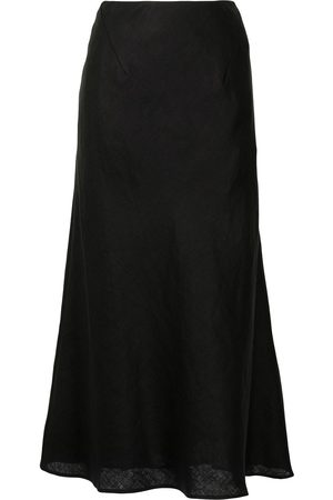 RACHEL GILBERT Mujer Midi - A-line linen midi skirt