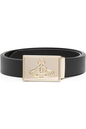 Vivienne Westwood Orb-plaque leather belt