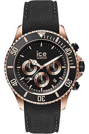 Ice-Watch Ice Steel Black Rose-Gold Chrono, Reloj para Hombre con Correa de Silicona, Chrono
