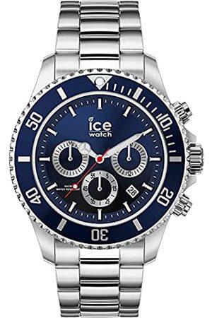 Ice-Watch Ice Steel Marine Silver Chrono, Reloj para Hombre con Correa de Metal, Chrono
