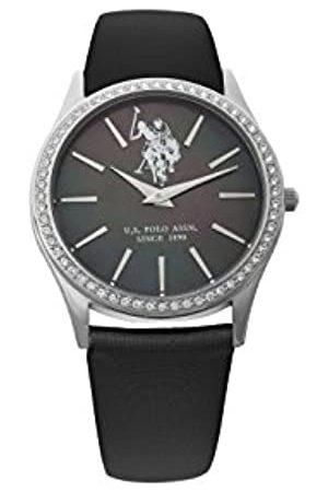 U.S. Polo Assn. US Polo Association Reloj Analógico para Hombre de Cuarzo con Correa en Cuero USP5249BK
