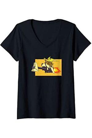 Star Wars: The Mandalorian Mujer Grogu Flight Speeder Force Camiseta Cuello V
