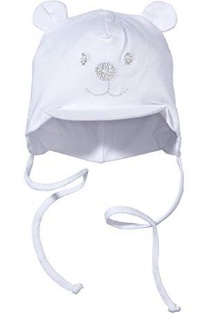Sterntaler Gorra unisex con visera y cinta para el cuello con bonito motivo de oso, Edad: 1-2 meses, Tamaño: 35