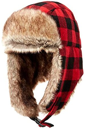 Amazon Trapper Hat with Faux Fur Cold-Weather-Hats, Buffalo Check