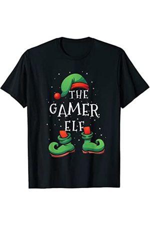 Pijamas de Navidad divertidos - Camisetas de Elfos Gamer Elf - Divertido pijama familiar de Navidad a juego Camiseta