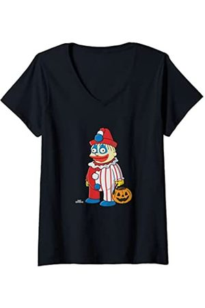 The Simpsons Mujer Ralph Clown Treehouse of Horror Halloween Camiseta Cuello V