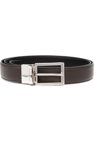 Ermenegildo Zegna Hombre Cinturones - Cinturón con hebilla con logo grabado