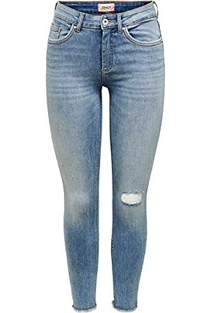 ONLY ONLBLUSH Mid SK ANK Raw Pipe BB ANA0007 Vaqueros Skinny