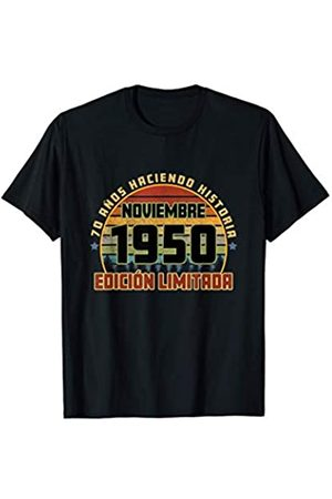 Cumpleaños Noviembre 1950 70 Años Camiseta Haciendo Historia Camiseta