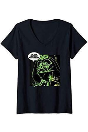 STAR WARS Mujer Darth Vader Luck St. Patrick's Day Camiseta Cuello V