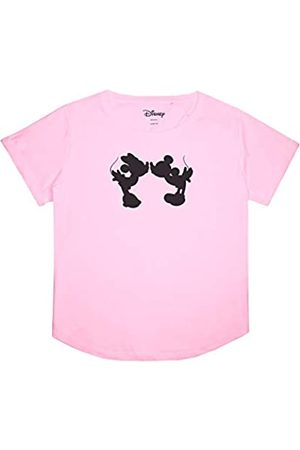 Disney Mujer Tops - Mickey and Minnie Mouse Kiss Silhouette Camiseta