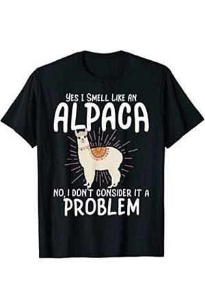 Alpaca Farmer Gifts And Shirts Alpaca Farmer - Yes I Smell Like An Alpaca Camiseta