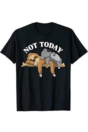 Animal Pajama Sleep Designs Hombre Pijamas - Not Today Perezoso Perezoso y Koala Pijama Divertido Camiseta