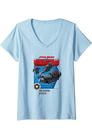 Star Wars: The Mandalorian Mujer Bounty Hunter The Empire is Back Camiseta Cuello V