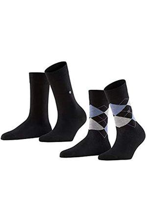Burlington Mujer Ropa - Everyday Argyle-muster und Unifarben 2 Paar Calcetines