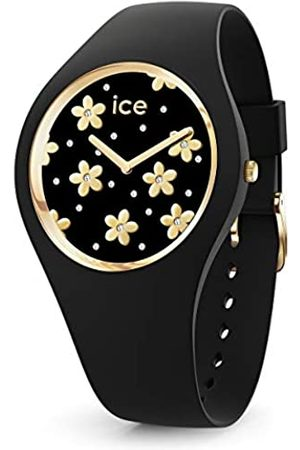 Ice-Watch ICE Flower Precious Black - Reloj para Mujer con Correa de Silicona