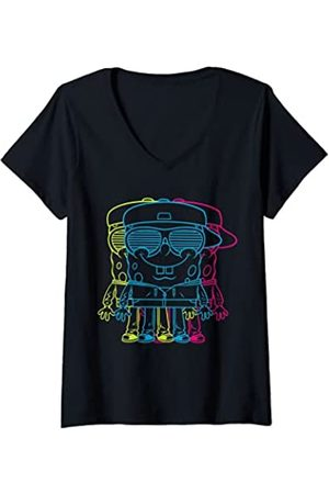 Spongebob Mujer US SpongeBob Character 3D 01 Camiseta Cuello V