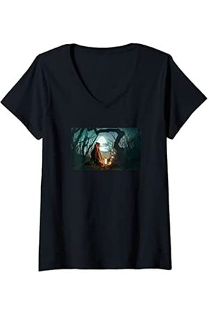 Star Wars: The Mandalorian Mujer Ahsoka Grogu Jedi Ways Panel Camiseta Cuello V