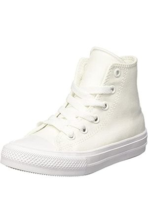 Converse CTAS II Hi, Sneakers Niñas, (White/White/Navy)