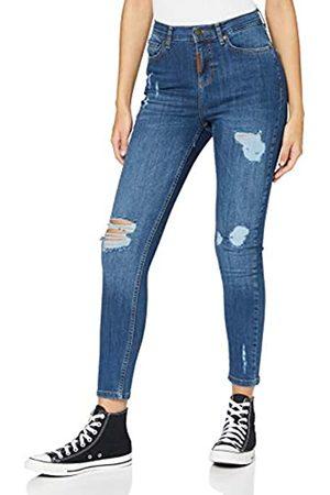 Gianni Kavanagh Mujer Cintura alta - Medium Blue Core Ripped Jeans