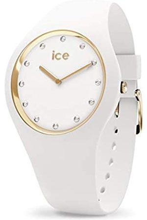 ICE-WATCH ICE Cosmos White Gold - Reloj para Mujer con Correa de Silicona