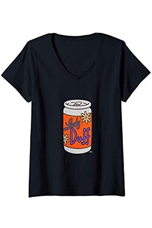 The Simpsons Mujer Tops - Mujer Lady Duff Beer Camiseta Cuello V