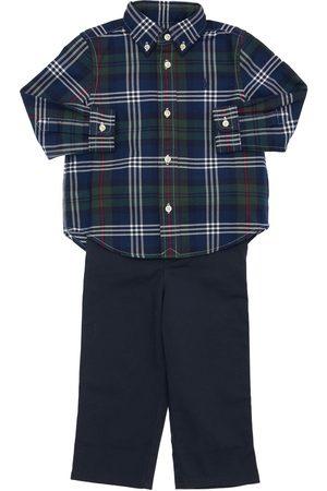 Ralph Lauren Niño Pantalones y Leggings -   Niño Camisa De Algodón Oxford Y Pantalones /verde 12m