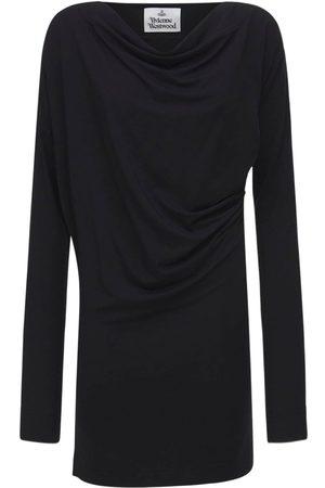 Vivienne Westwood Mujer De punto - | Mujer Vestido Mini Drapeado De Viscosa De Jersey Xs