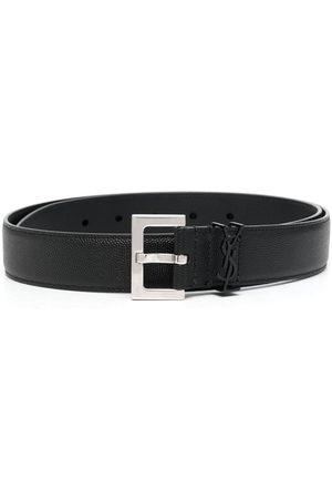 Saint Laurent Hombre Cinturones - Cinturón con placa del logo