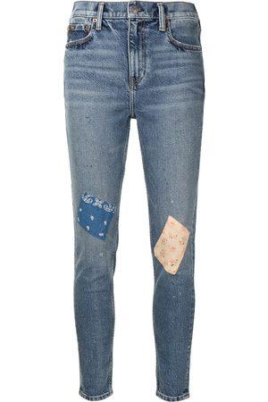 Polo Ralph Lauren Vaqueros skinny con diseño de patchwork