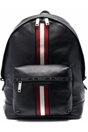 Bally Leather signature stripe backpack