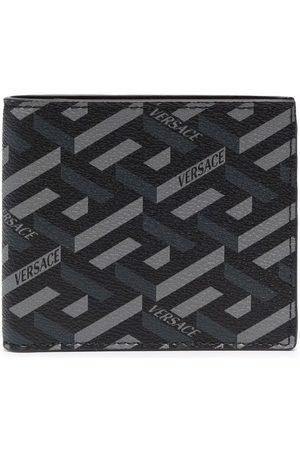 VERSACE Greca geometric-print bi-fold wallet