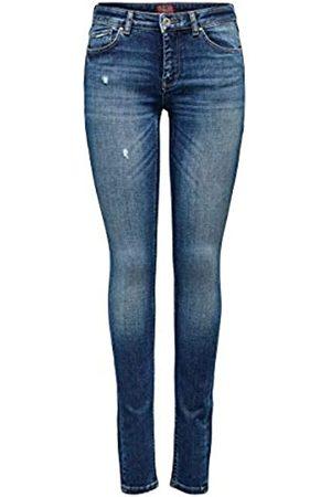 ONLY Mujer Cintura alta - Onlcarmen Reg SK Jeans BB Rea139285 Noos Vaqueros Skinny