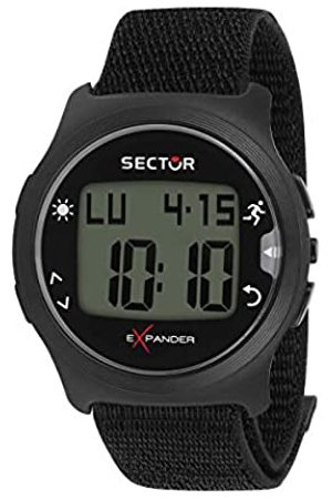 Sector No Limits Hombre Relojes - Reloj Digital para Hombre de Cuarzo con Correa en Nailon R3251530001