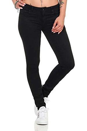 ONLY Mujer Cintura alta - Onlcarmen Reg SK Black4ever Soo1796 Noos Vaqueros Skinny